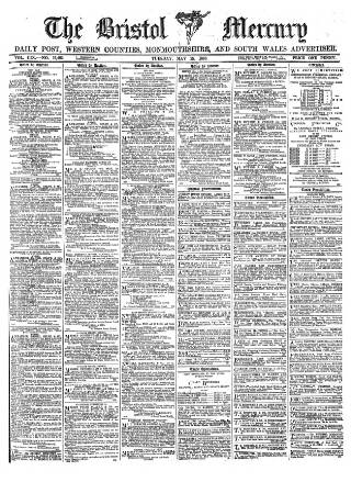 cover page of Bristol Mercury published on May 15, 1888