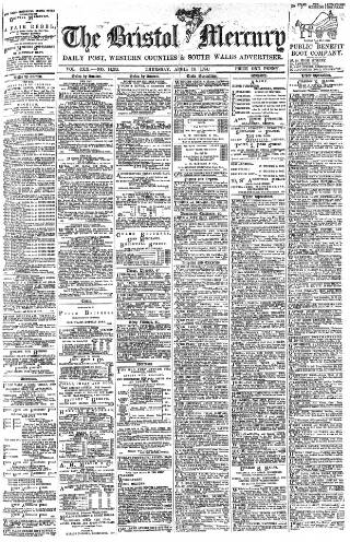 cover page of Bristol Mercury published on April 19, 1894
