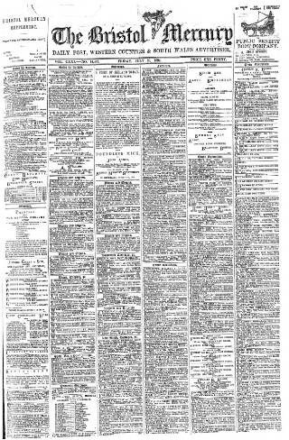 cover page of Bristol Mercury published on July 20, 1894