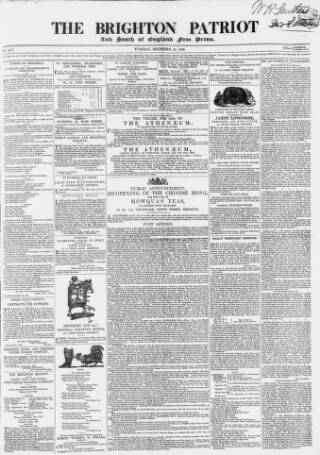 cover page of Brighton Patriot published on December 13, 1836