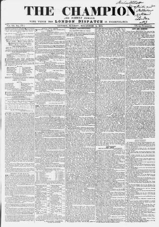 cover page of The Champion published on December 15, 1839
