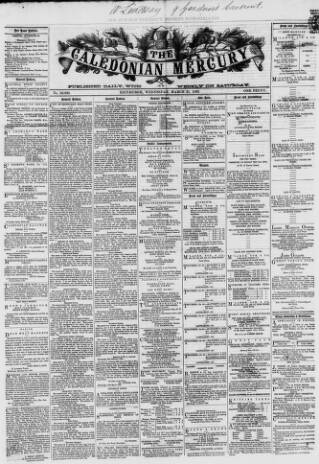 cover page of Caledonian Mercury published on March 21, 1866