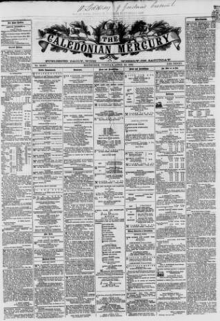 cover page of Caledonian Mercury published on April 24, 1866