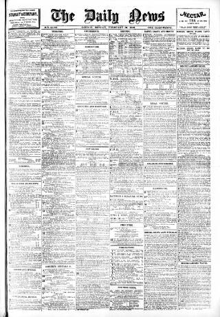 cover page of London Daily News published on February 19, 1906