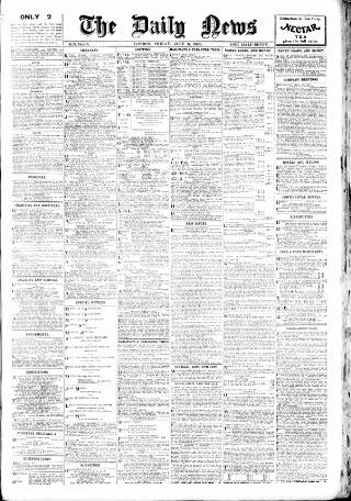 cover page of London Daily News published on July 6, 1906