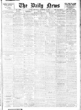 cover page of London Daily News published on September 19, 1907
