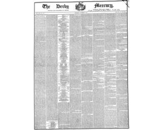 cover page of Derby Mercury published on November 24, 1852