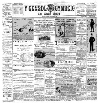 cover page of Y Genedl Gymreig published on March 21, 1893