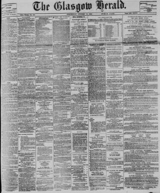 cover page of Glasgow Herald published on October 17, 1900