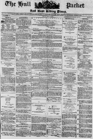 cover page of Hull Packet published on May 9, 1873