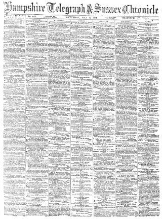 cover page of Hampshire Telegraph published on May 17, 1884