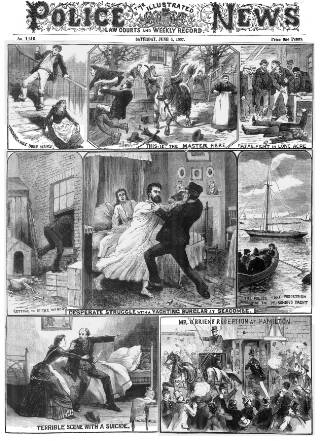 cover page of Illustrated Police News published on June 4, 1887