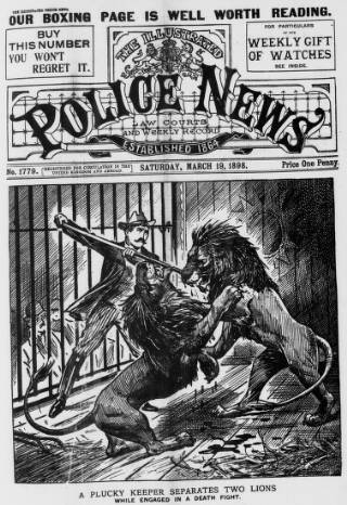 cover page of Illustrated Police News published on March 19, 1898