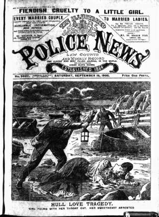 cover page of Illustrated Police News published on September 19, 1908