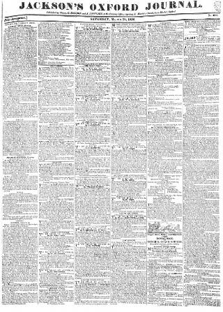 cover page of Oxford Journal published on March 19, 1836