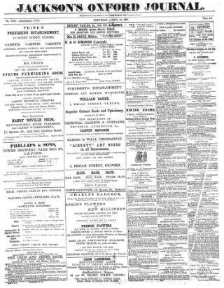 cover page of Oxford Journal published on April 18, 1891