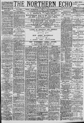 cover page of Northern Echo published on July 18, 1891