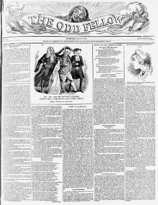 cover page of The Odd Fellow published on July 3, 1841