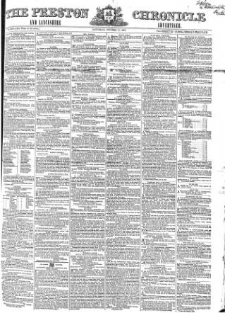 cover page of Preston Chronicle published on October 17, 1857