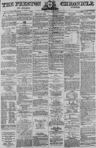 cover page of Preston Chronicle published on July 22, 1871