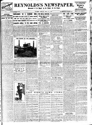 cover page of Reynolds's Newspaper published on May 15, 1910