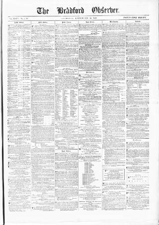 cover page of Bradford Observer published on December 16, 1869