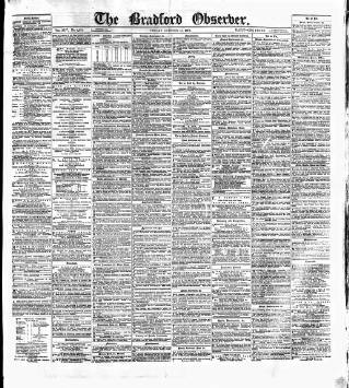 cover page of Bradford Observer published on October 18, 1878