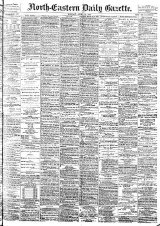 cover page of Daily Gazette for Middlesbrough published on April 19, 1897