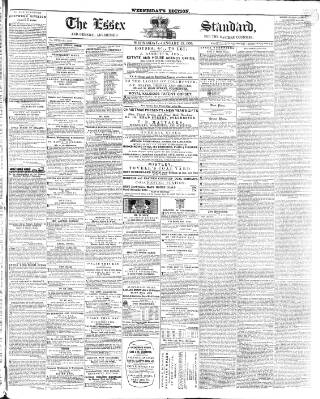 cover page of Essex Standard published on January 23, 1856