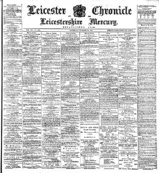cover page of Leicester Chronicle published on November 24, 1900