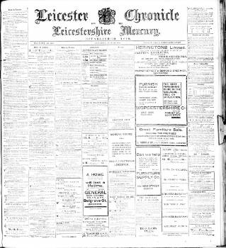 cover page of Leicester Chronicle published on June 20, 1908