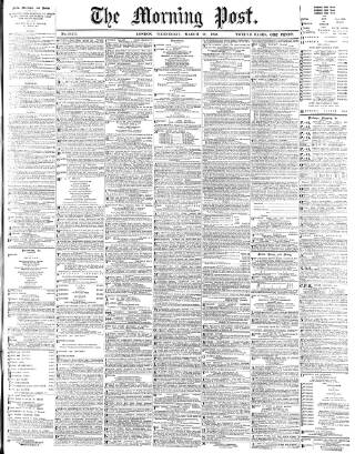 cover page of Morning Post published on March 21, 1900