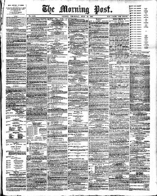 cover page of Morning Post published on July 25, 1901