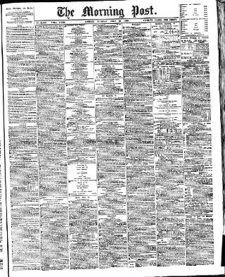cover page of Morning Post published on July 18, 1905