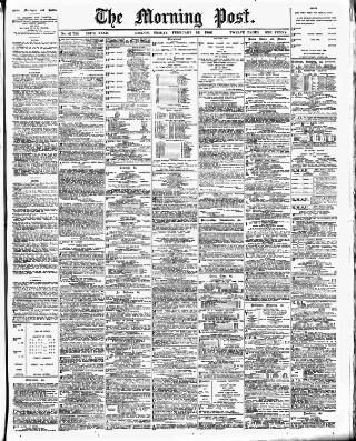 cover page of Morning Post published on February 16, 1906