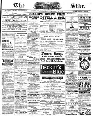 cover page of The Star published on February 19, 1887