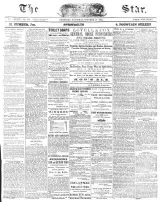 cover page of The Star published on October 17, 1891