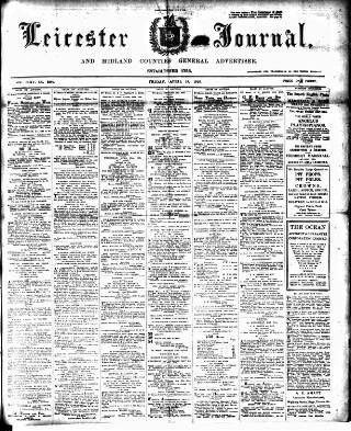 cover page of Leicester Journal published on April 19, 1918