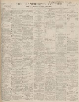 cover page of Manchester Courier and Lancashire General Advertiser published on December 19, 1902