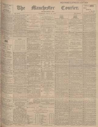 cover page of Manchester Courier and Lancashire General Advertiser published on April 25, 1905