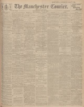 cover page of Manchester Courier and Lancashire General Advertiser published on May 27, 1908