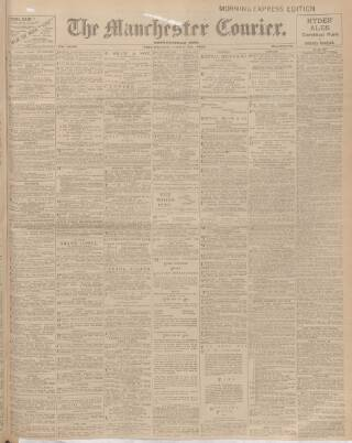 cover page of Manchester Courier and Lancashire General Advertiser published on June 25, 1908