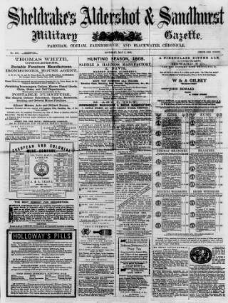 cover page of Aldershot Military Gazette published on May 9, 1868