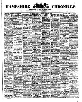 cover page of Hampshire Chronicle published on April 18, 1903