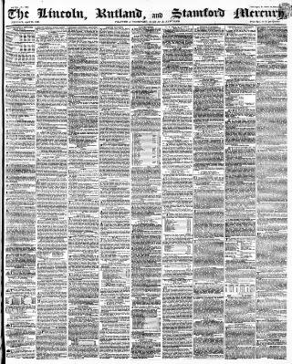 cover page of Stamford Mercury published on April 23, 1841
