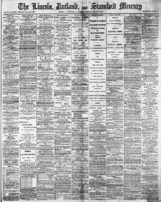 cover page of Stamford Mercury published on March 22, 1895