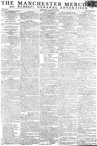 cover page of Manchester Mercury published on March 20, 1804