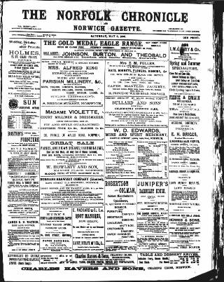 cover page of Norfolk Chronicle published on May 9, 1896