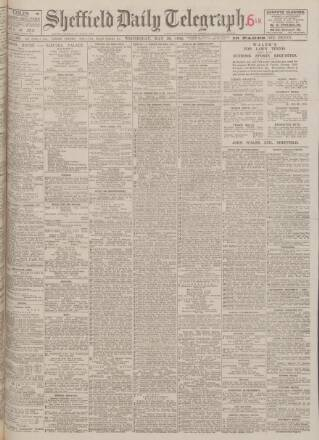cover page of Sheffield Daily Telegraph published on May 26, 1926