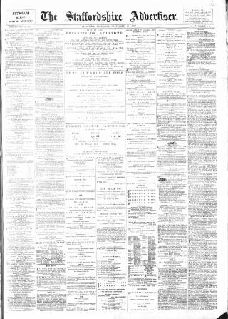 cover page of Staffordshire Advertiser published on September 26, 1903